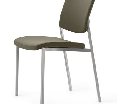 Source Font Fully Upholstered Stacking Chair With No Arms
