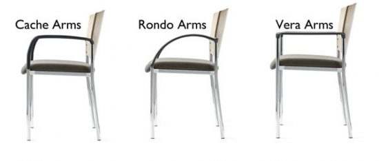 arm styles for Source stacking chairs