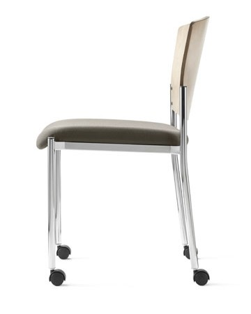 Source Seating stacking caster chair with no arms