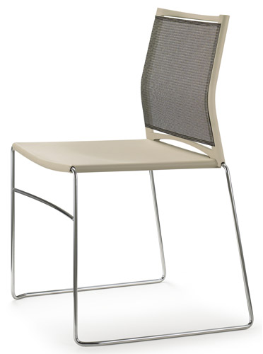 Banquet Chairs Upholstered Seat Mesh Back Aspen Hills